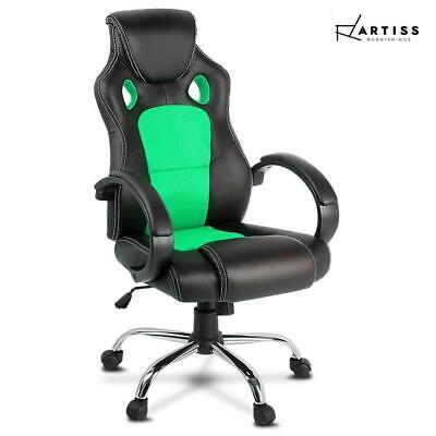 RETURNs Artiss Gaming Chairs Office Study Computer Desk Seating Racing Racer Bla