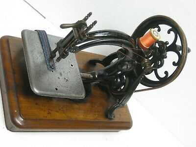 Very Rare Model Antique Wilcox & Gibbs Hand Crank Chain Stitch Sewing Machine