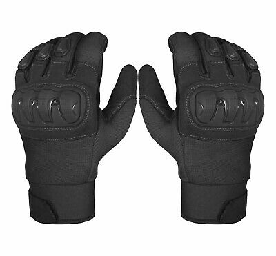 Leather All Weather Support Motorbike Motorcycle Gloves Carbon Fiber Knuckle