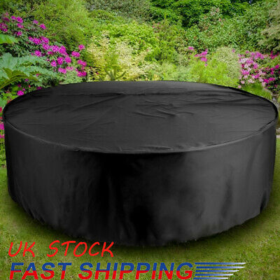 4/6 Seater Large Round Garden Rattan Outdoor Furniture Cover Patio Table Shelter