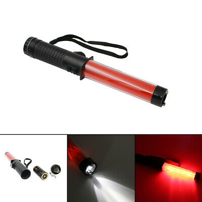 29CM New Red Traffic Control Road Safety Police LED Light Magnet Wand