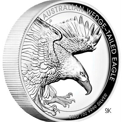 2020 Wedge-Tailed Eagle High Relief 1 oz Silver Coin