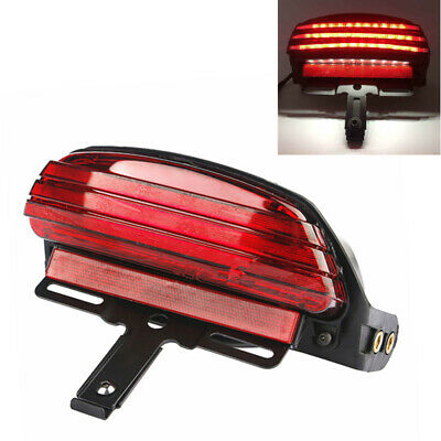Motorcycle Tri-Bar Rear Fender LED Tail Brake Light For Harley FXST FXSTC Dyna