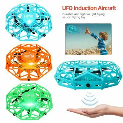 Mini Drone Quad Induction Levitation Hand Operated Helicopter UFO Toys Boys Kids