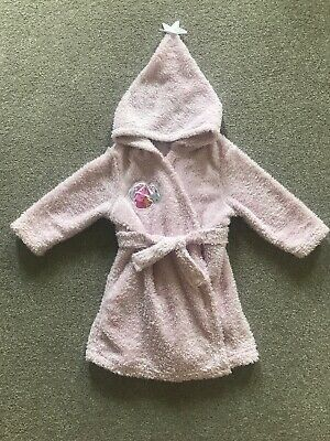 Toddler Girls Peppa Pig Princess Fairy Hooded Dressing Gown Robe Age 2-3 Years