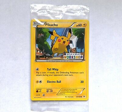 Sealed Build a Bear Promo Pikachu SM86 Sun and Moon Ultra Rare Non Holo Mint