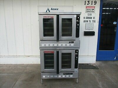 Double Stacked 115v Blodgett Natural Gas Convection Oven #4804