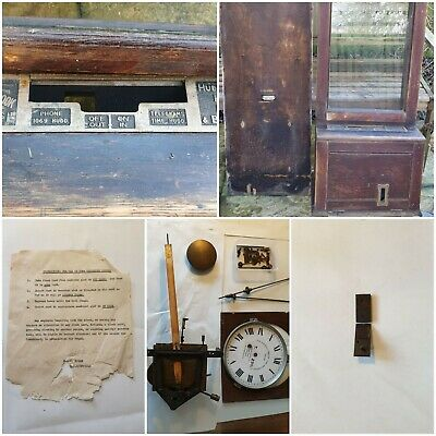 Recording clock Gledhill-Brook, time recorder, punch clock, PARTS or not working