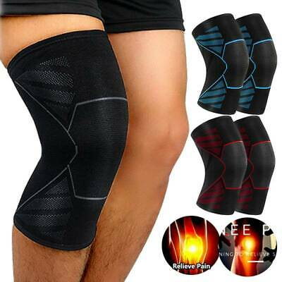 Copper Knee Sleeve Compression Brace Support Sport Joint Pain Arthritis Relief S