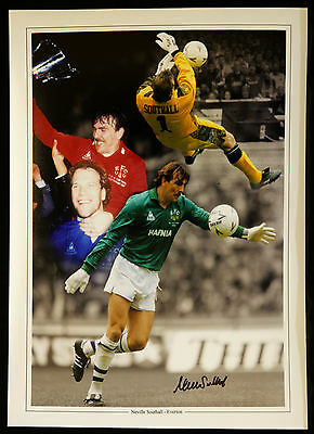 New Neville Southall Everton Signed 12x16 Montage