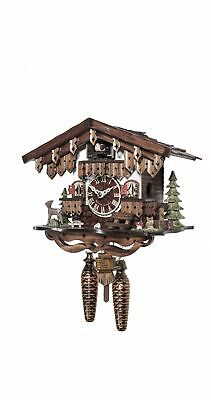 Quartz Cuckoo Clock Black forest house with music EN 485 QM NEW