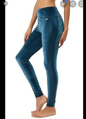 Sweaty Betty Velvet Leggings Blue L