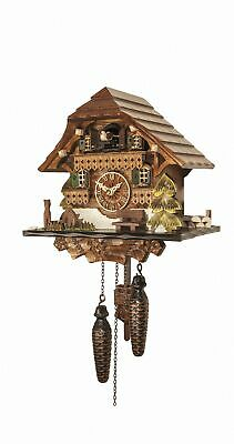Quartz Cuckoo Clock Black forest house with music EN 432 QM NEW