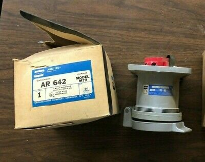 Crouse-Hinds AR642 Receptacle 60 AMP 3 Wire 4 Pole