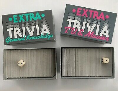 Trivial Pursuit Extra Trivia 1980s 1986 General Knowledge/TV & Movies game cards