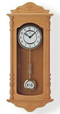 Modern wall clock with quartz movement from AMS AM W7013/16 NEW
