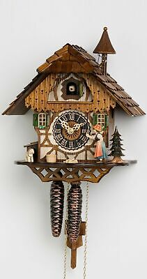 Cuckoo Clock Little black forest house, the peasant girl rings the.. HO 1294 NEW