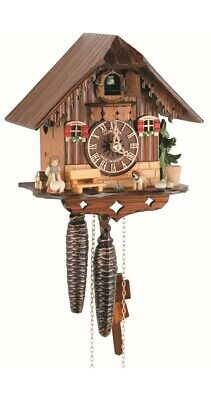 Quartz Cuckoo Clock Little black forest house, with music SC Q 86/9 NEW