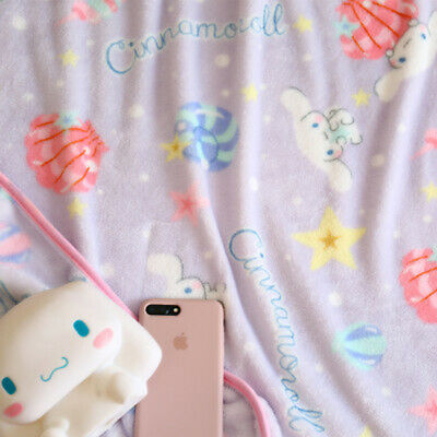 NEW Sanrio Cinnamoroll Purple Plush Fleece Throw Blanket Quilt Kawaii - US SHIP