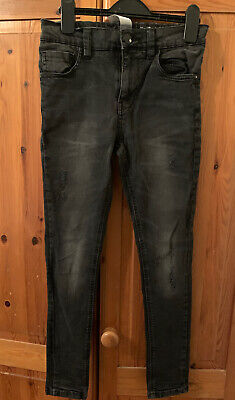 Next Boys Black Super Skinny Jeans Age 11