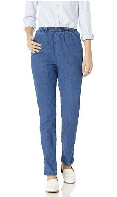 Chic Classic Collection Women's Stretch Elastic Waist Pull-On Pant 18 Average