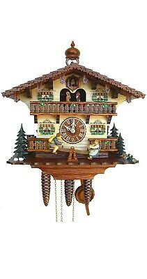 Cuckoo Clock Chalet with moving children on a see-saw SC 8TMT 287/9 NEW
