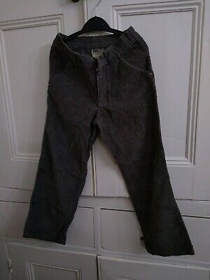 Denim Co Light Grey Coudroy Trousers Age 6-7 Height 122 cms