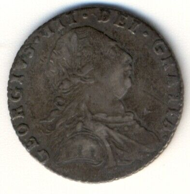 GREAT BRITAIN, 1787, 6 pence, XM 606.2, XF