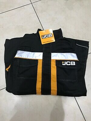 JCB Trade Coveralls Mens Knee Pad Heavy Duty Overalls Boilersuit Work Mechanics