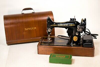 Vintage 1949 Singer 99K Electric Sewing Machine Beautiful! Original Wood Case
