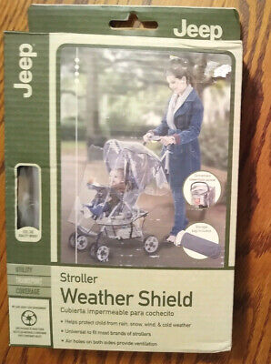 Jeep Stroller Weather Shield Clear Plastic Vented Cover with Bag New in Box