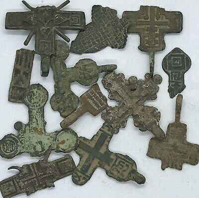 Medieval Byzantine & Post Middle Ages Artifacts Lot Cristian Cross Old Rare?