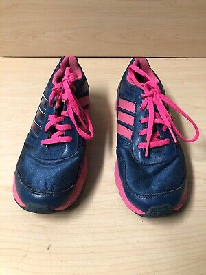 Adidas   Running Shoes Girls Blue Navy /Pink Size Us 4 Eur 36