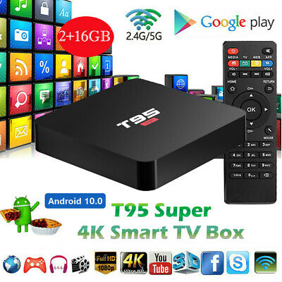 CA NEW T95 Super SMART TV BOX Android10 4K HD Pro WiFi Quad Core 3D Media Player