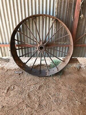 "Antique Steel Wheel 4ft 6"" diameter x 12"" Wide, Good Condition"