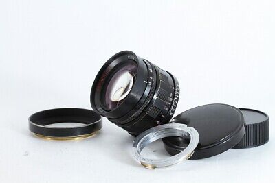 Voigtlander NOKTON 50mm F1.5 Aspherical For Leica Screw L39  W/ L M Ring #EL4070