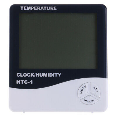 Digital Thermometer Hygrometer Humidity Temperature Indoor Outdoor Alarm~PA_F