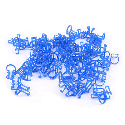 100pcs Dental Disposable Cotton Roll Holder Clip Fit for Clinic Supplies ds
