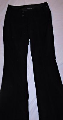 Juniors Sz 5 Space Girlz Black Flare Dress Pants W/ Stretch Professional Career