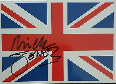 Mick Jones, 'The Clash' hand signed in person union jack postcard. Last one!!