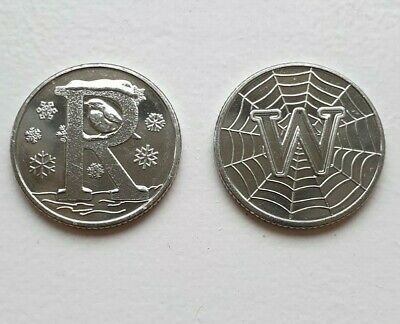 2 coins A-Z 10p alphabet - R & W from sealed bags (2019) - nearly uncirculated