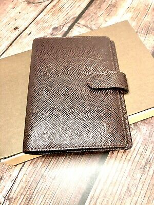 Louis Vuitton Maroon Taiga Leather Agenda PM Authentic