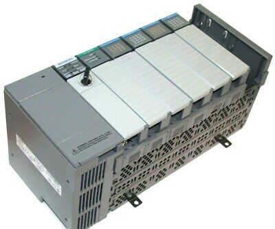 Loaded Allen Bradley 7 Slot SLC 500 PLC 5/04 1747-L541 2 Inputs 2 Outputs System
