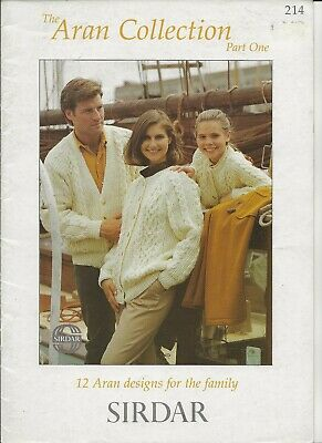 Sirdar The Best Of Aran 12 Family Designs Knitting Pattern Booklet 179 Vintage