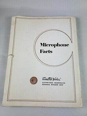 Electro-Voice Microphone Facts 1950's 1960's Manual  - Original