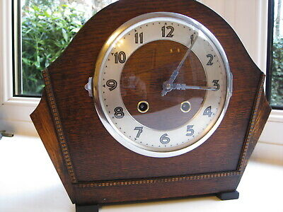 Stunning Art Deco striking mantle clock, 1930s period , Working see listing