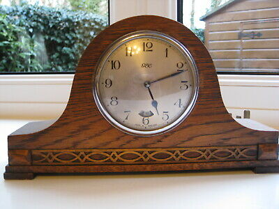 Napoleon Hat (tambur) mantle clock by English Electric Co. Fully working Good Co
