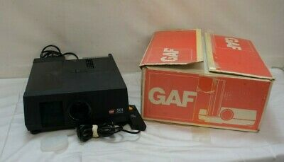 GAF 501 Automatic Slide Projector with Original Box