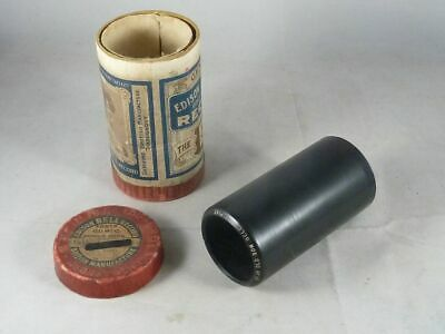 """Edison Bell-Gold Moulded Record, Phonographen-Walze, """"Dear old bow bells"""""""
