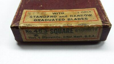 Starrett No.453 Adjustable Diemakers Square W/2-1/2 Inch Rule and master square